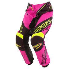 o neal motocross gear oneal element racewear offroad pants pink black women s clothing
