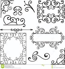 wrough iron ornaments stock vector image of fence icon 3739415