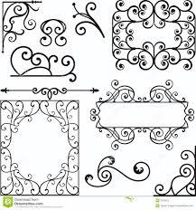 wrough iron ornaments royalty free stock photo image 3739415