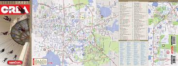 Central Florida Map Orlando Map By Vandam Orlando Streetsmart Map City Street Maps