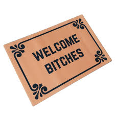welcome bitches funny doormats personalized durable machine