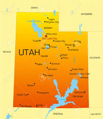 Map Of Arizona Cities by Vector Color Map Of Utah State Usa Royalty Free Cliparts Vectors