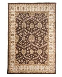 6 X 8 Area Rug Brown Hand Tufted Traditional Wool Area Rug Carpet 2 U00276 X 8