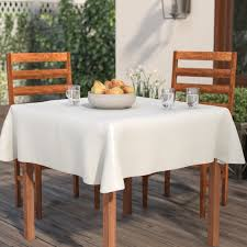 tablecloth for oval dining table symple stuff vinyl flannel backed tablecloth reviews wayfair