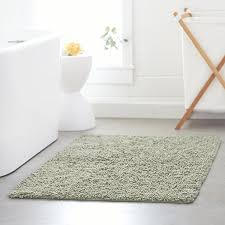 Rubber Backed Bathroom Rugs by Amazon Com Pinzon 100 Cotton Looped Bath Rug With Non Slip