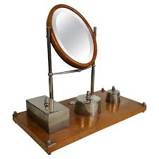 objet deco retro french gentleman u0027s vintage barber shop swivel shaving mirror on a