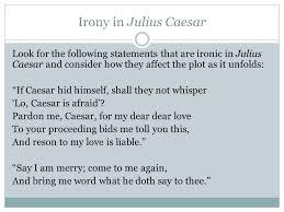 literary elements of julius caesar ppt