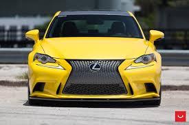 custom lexus is 350 lfa yellow lexus is 350 sits on vossen wheels autoevolution