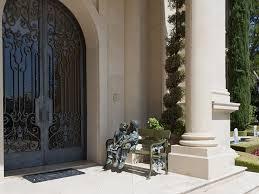 Bench By Front Door Traditional Front Door With Fountain U0026 Shoji Door In Beverly Hills