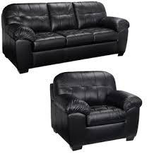Black Leather Sofa And Chair Black Italian Leather Sofa And Loveseat Free Shipping Today