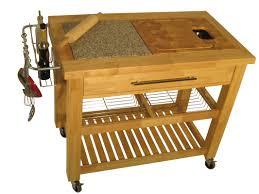 chris u0026 chris pro chef kitchen island with granite and wood top