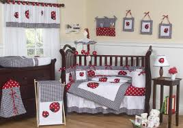 Hot Pink And Black Crib Bedding by Nursery Cute And Smooth Ladybug Crib Bedding For Sweet Nursery