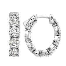 diamond hoops oval shaped diamond hoops 75 inch diameter top to bottom at 1stdibs