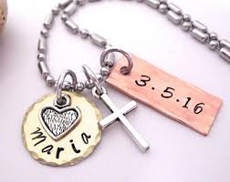 baptism necklace baby girl baptism gift girl small cross necklace