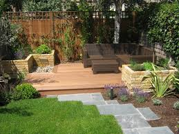 decking lawn raised beds garden yes please garden fencing
