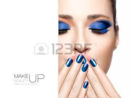 beauty makeup and nai art concept beautiful fashion model woman