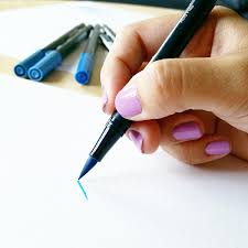 thick writing paper applying pressure in brush calligraphy with sharisse to create a thicker stroke apply more pressure to the pen press your brush pen onto the page maintaining the proper angle and watch as the tip flexes or