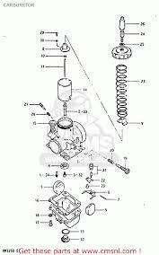 suzuki rm125 1983 d carburetor schematic partsfiche