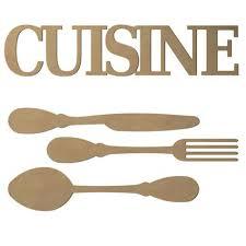 mot de cuisine mot cuisine et couverts en bois médium 58 cm loisirs