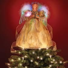 the fiber optic angel tree topper hammacher schlemmer