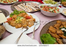 wedding platters delicious food platters served on wedding stock photo 105492077