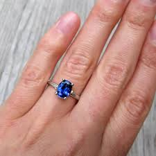 oval sapphire engagement rings oval cultured blue sapphire twig engagement ring 1 75ct
