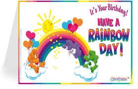 Birthday Day Cards Rainbow Greetings Printable Greeting Cards
