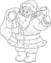 coloring book children santa claus bell vector art