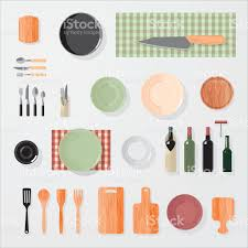 kitchen bar restaurant design elements mockup stock vector art