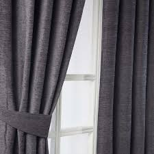 Heavy Grey Curtains Homescapes Pewter Grey Luxury Chenille Pencil Pleat Lined Curtain