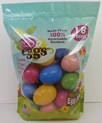 eco easter eggs eco friendly easter eggs 18 count toys