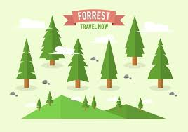free flat forrest tree background collection free