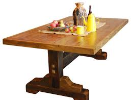Black Mountain Reclaimed Wood Trestle Base Table Rustic Dining - Trestle kitchen tables