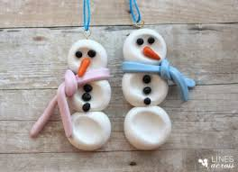 clay thumbprint snowmen ornaments fun family crafts