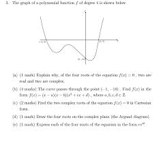 the graph of a polynomial function f of degree 4 i chegg com