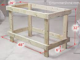 Bench Construction Plans Best Dezignito Wooden Work Bench Plan