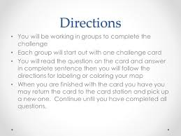 Challenge Directions Rome Geography Challenge Mrs Wheeler Objectives Students Will Be