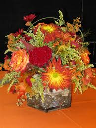 fall table arrangements fall arrangement in square vase williamsburg floral