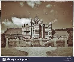 an old photographic glass plate effect picture of tyntesfield