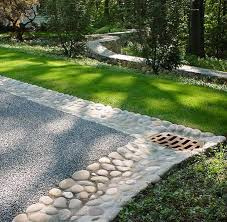 drainage driveway landscaping ideas park landscape design