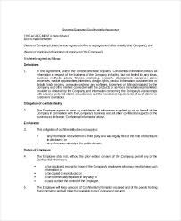 employee confidentiality agreement download free u0026 premium
