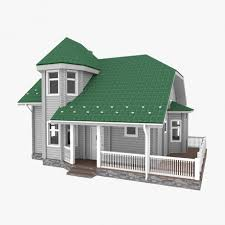 American Small House American Small Log House 3d Model Cgstudio