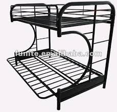 Black Metal Futon Bunk Bed Metal Bunk Bed With Futon Bonners Furniture