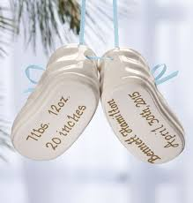 baby bootie ornament personalized baby bootie ornament baby ornament exposures