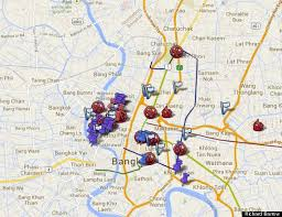 bangkok map tourist attractions bangkok protests map informs tourists of areas to avoid huffpost