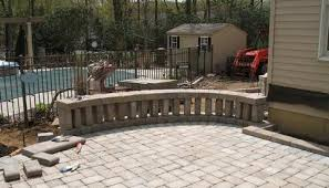 Building A Raised Patio How To Build A Olde English Domino Wall