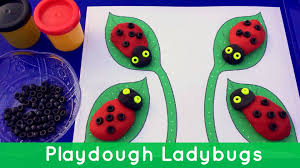 playdough ladybugs preschool activity for fine motor development