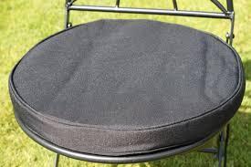 Garden Bistro Chair Cushions Garden Furniture Cushion Round Pad For Bistro Chair Black In