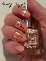 beauty nuggets coral glitter look