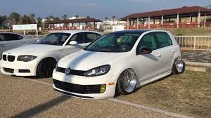 volkswagen hatchback custom custom vw golf mk edition expo auto show tuning german cars